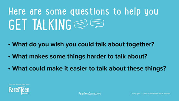 Get Talking (Communication) questions