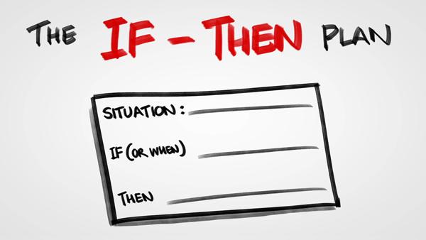 Having an IF–THEN Plan